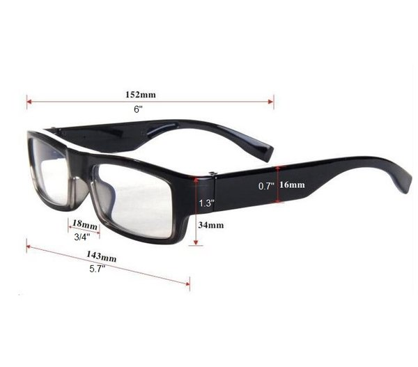 308292569e HD 1080P IP Wifi Spy Glasses Hidden Video Recorder Camera Motion ...